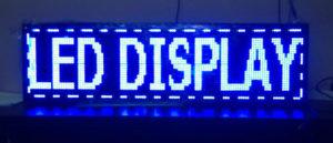 Led displej reklame plave