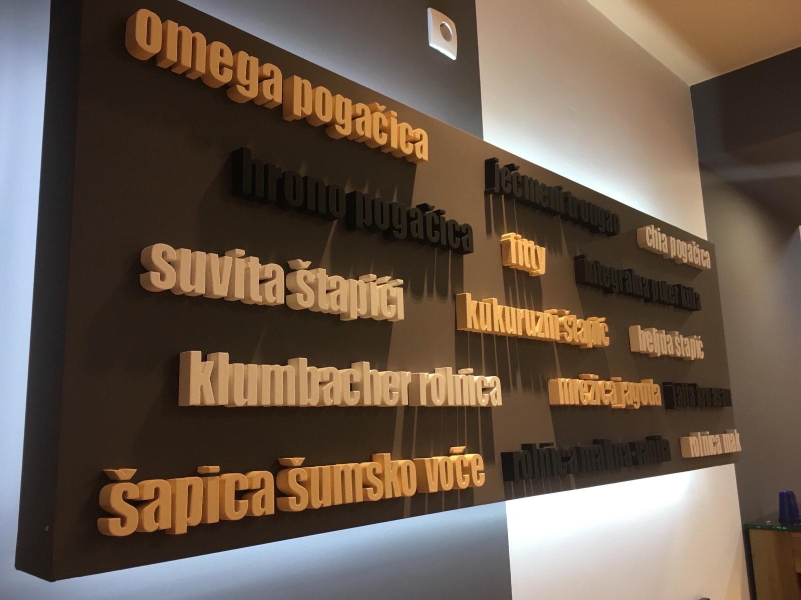 slova od stirodura-stiropora za firme i lokale