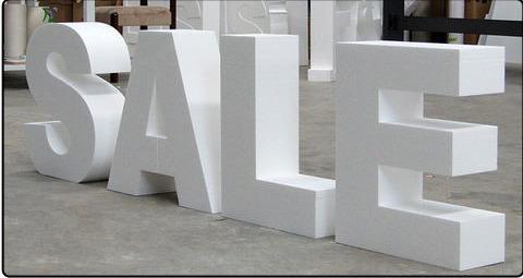 3D slova velikih formata - samostojeca