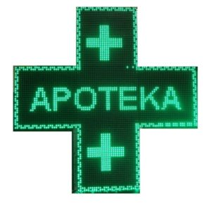 apotekarski krstovi, zeleni, crveni, sa, temperaturom, animacijama, tacnim vremenom